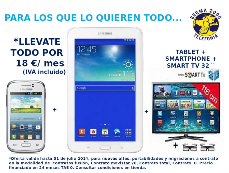 Tablet + Smartphone + Smart TV 32''